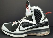 Nike Lebron 9 IX Mens Size 8.5 Freegums Black White Athletic Sneakers 469764-101