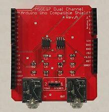 Arduino Uno Compatible Dual MSGEQ7 Spectrum Analyzer Breakout Board Shield