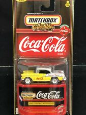 55 CHEVY BEL AIR HARDTOP COCA COLA MATCHBOX COKE 1/64 SCALE DIECAST