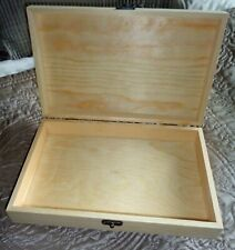 Plain, unfinished wooden box for Cigar Box Guitar, Crafts etc