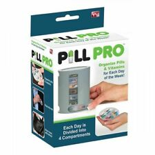 PILL PRO 7 Day Compartments  Pill Organiser  Box Tablets Holder Medicine UK
