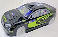 Subaru WRX STI Pre Painted RC Body1/10th Scale Black HPI Traxxas Kyohso 190mm
