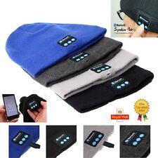 Warm Soft Beanie Wireless Bluetooth Hat Cap Headset Headphone Speaker Mic UK