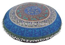 Indian Mandala Floor Pillows With Insert Ethnic Round Cotton Throw Cushion Cover