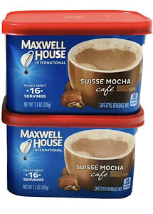 2 Maxwell House International Cafe Suisse Mocha Instant Coffee (1) 7.2oz can