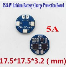 2S 8.4V Lithium Battery Charge Protection Board 7A Limit Round Protect Board