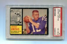 1962 Topps Johnny Unitas Card #1 PSA 4 VG-EX Baltimore Colts