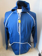 Vintage CIS Sportswear Polyester Blue & White Track Jacket Unused w/Tag Large