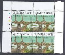 ZIMBABWE, 2007, 2ND ISSUE SAPO, A TYPE, NYALA, SG 1245, MNH T/LIGHT BLOCK 4