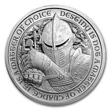 2 oncia Silver Rotondo Destiny Cavaliere The Raven 999 Argento Edizione 10.000