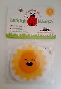 Bathtub Buddies Tub Shower Stickers Safety Decals Treads Non Slip Anti-Skid 10pc
