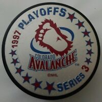 1997 VINTAGE SERIES 3 COLORADO AVALANCHE PLAYOFFS BIG FOOT NHL INGLASCO PUCK