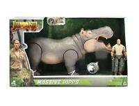 Jumanji Massive Hippo with Realistic Sound Includes Dr. Bravestone Figure New