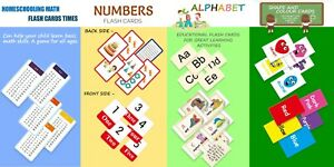 Children's Flash Cards Shapes Numbers Colours First Words A to Z Early Learning