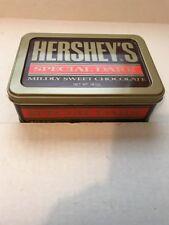 1992 Hershey's Special Dark Mildly Sweet Chocolate Tin Vintage RARE