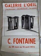 affiche exposition c.fontaine 1974   72cm sur 50 cm
