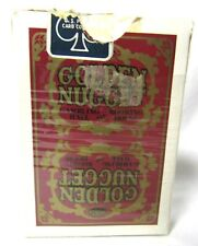 Retired Golden Nugget Casino Deck Playing Cards Red Gold Las Vegas Gambling Hall