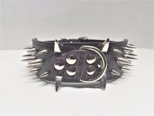"""2.0"""" Wide Spiked Studded Leather Dog Collars for Large Dog Pitbull Mastiff Bully"""