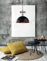 Industrielampe Schwarz Loft 1x60W Hängelampe Pendellampe Vintage Retro NEU Lampe