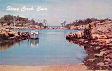 Stony Creek Connecticut ~ Captain KIDD'S Puerto Tarjeta Postal Década 1960