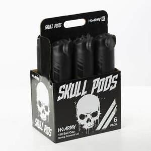 HK Army 150 Round Skull Pod 6-Pack - Black