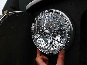 Austin Rover Mini Cooper Stainless Steel Headlamp Stone Guards Protectors Pair