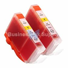 2 YELLOW CLI-8 CLI-8Y Compatible Ink Cartridge for Canon Printer CLI8 CLI-8Y