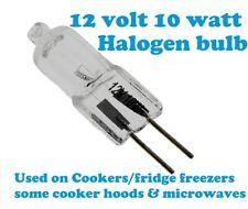Electrolux 12V halogen lamp bulb  g4 socket 10w Oven Cooker Hood Extractor