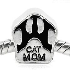 "European Style Charm Bead -""CAT MOM "" paw   Buy 15 get a FREE BRACELET !"