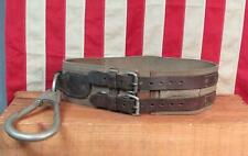 Vintage 70s Atlas Safety Equipment Linemans Utility Tool Belt Pole/Tree Climbing