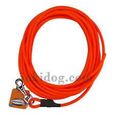 longe 8 mm - 3 m - sans poignée - orange - biothane