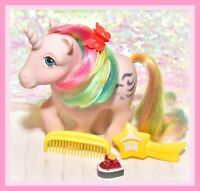 ❤️My Little Pony G1 Vtg Rainbow Ponies WINDY Unicorn & Original Brush Comb❤️