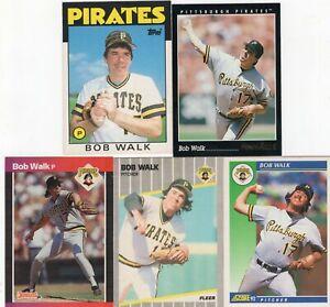 BOB WALK Lot of 25+ Different Premium MLB Baseball Cards Pittsburgh Pirates