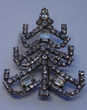 Alte Strass Brosche Weihnachtsbaum Christmas tree  Brooch Gablonz  Böhmen Nr.255