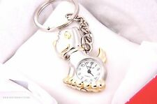CUTE DOG KEYCHAIN TWO TONE KEYRING WATCHES
