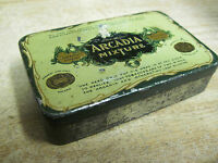 ARCADIA  PLUG SMOKING TOBACCO TIN SURBRUG CO NEW YORK NY OLD ANTIQUE POCKET
