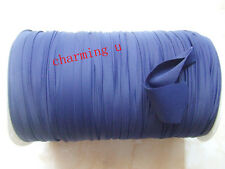 3mt nastrino fettuccia lycra elastico per bracciale,collana colore blu scuro