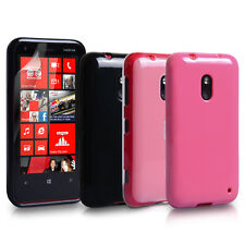 Accessories For Nokia Lumia 620 Silicone Gel Case Cover Skin & Screen Protector