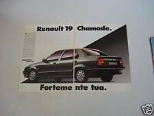 advertising Pubblicità 1990 RENAULT 19 CHAMADE