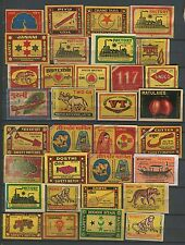 India 60+ Years Old Collection Of Approx 100 Different Match Box Labels.