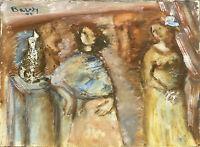 Gouache Henriette BARETY (1934-2017) - Chagall - La provence