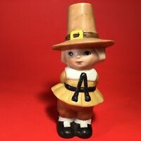 LEFTON PILGRIM BOY FIGURINE 4 INCH VINTAGE THANKSGIVING