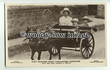 r0736 - Princess Mary & sons George & Gerald in pony & cart - postcard