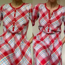 Vintage Red Checked Dress