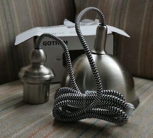 Ikea Gothem 1.6m Cord Set Black White E27 003.540.82