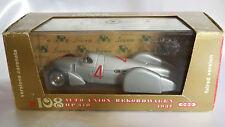 1/43 BRUMM AUTO UNION REKORDWAGEN HP 370 VERSIONE CARENATA DEL 1937 #4 R108