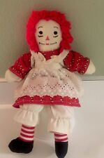 "RAGGEDY ANN Doll N Outfit Handmade 16"" tall I Love You Heart  on Chest"