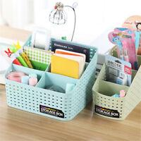 Multi-grid Plastic Cosmetic Storage Box Makeup Brushes Lipsticks Pen Organizer