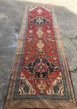 "Antique Caucasian Large Oriental Carpet Runner Kazak 12' x 40.5"" Red"