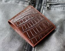 GENUINE CROCODILE BELLY SKIN LEATHER BIFOLD WALLET CW0015-BR